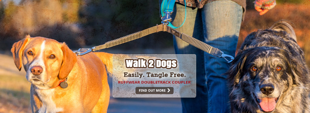 Walk your two dogs easily & tangle free!